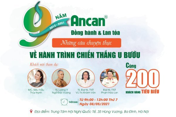 [SỰ KIỆN] Ancan – 9 năm đồng hành cùng người bệnh u bướu